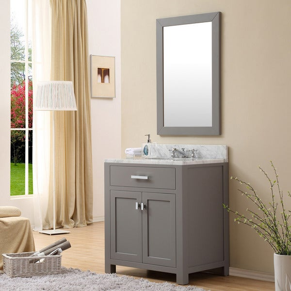 Shop Water Creation Madison Inch Cashmere Grey Single Sink - 30 inch grey bathroom vanity