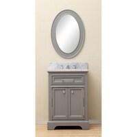 Water Creation Derby 24 Inch Cashmere Grey Single Sink Bathroom Vanity