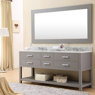 Water Creation Madalyn 72G 72-inch Cashmere Grey Double Sink Bathroom Vanity from The Madalyn Collec (4 options available)