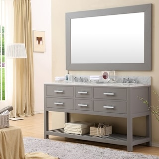 Water Creation Madalyn 60 Inch Cashmere Grey Double Sink Bathroom Vanity