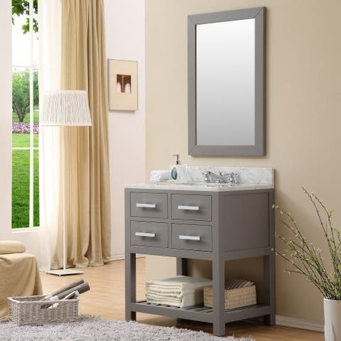 Water Creation Madalyn 30-inch Cashmere Grey Single Sink Bathroom Vanity