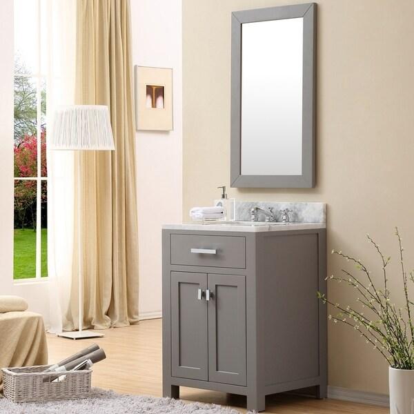Water Creation Madison 24 Inch Cashmere Grey Single Sink Bathroom Vanity