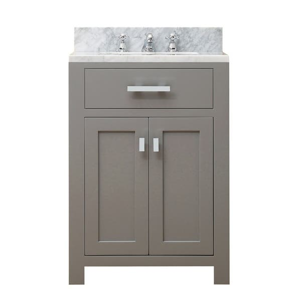 24 Inch Cashmere Grey Single Sink