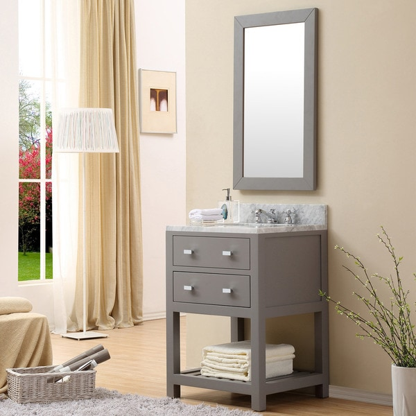Water Creation Madalyn 24 Inch Cashmere Grey Single Sink Bathroom Vanity Free Shipping Today