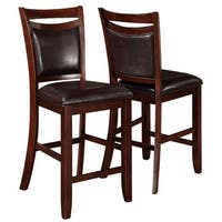 Rosely Contemporary Wood Counter Height Stools (Set of 2)