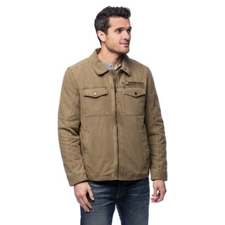 GHBass Mens Zip Front Polyester Collar Jacket