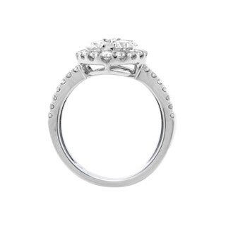 18k White Gold 1 4/5ct TDW Diamond Double Band Ring (Size 7)