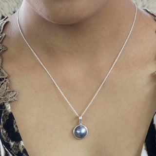 MABE Pearl and Sterling Silver Necklace