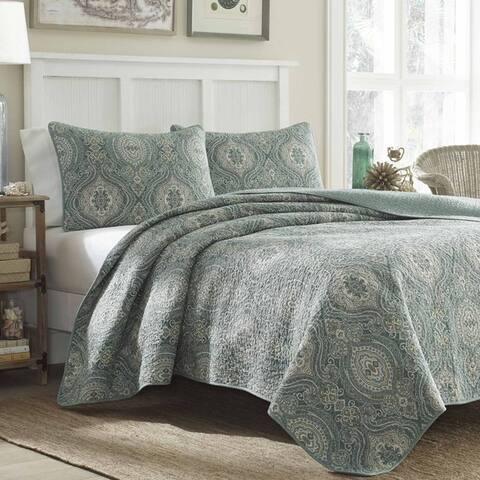 Tommy Bahama Turtle Cove Cotton 3-piece Quilt Set