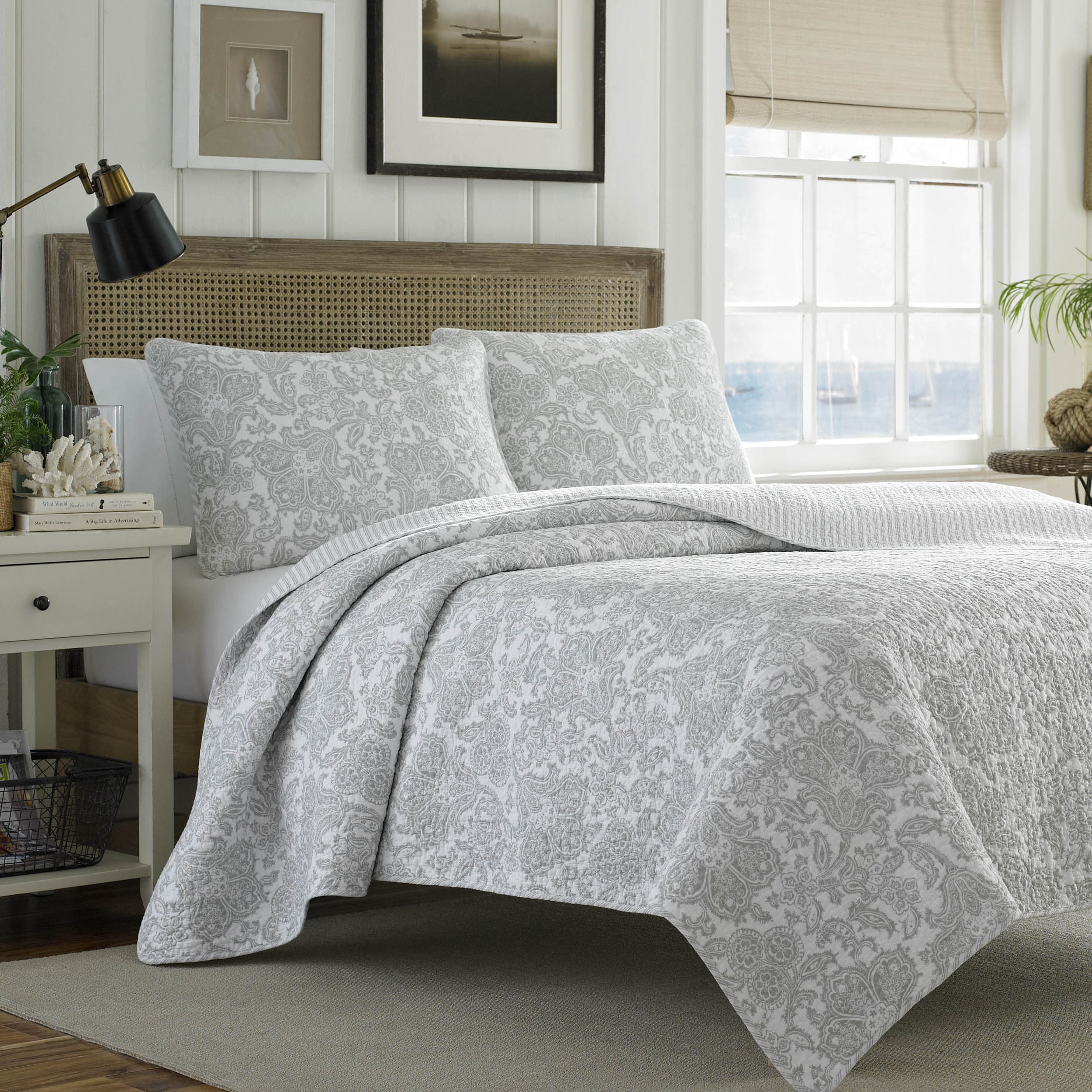 Tommy Bahama Island Memory Gray 3 Piece Quilt Set On Sale Overstock 10223123