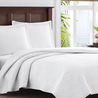 Tommy Bahama Chevron White 3-piece Quilt Set