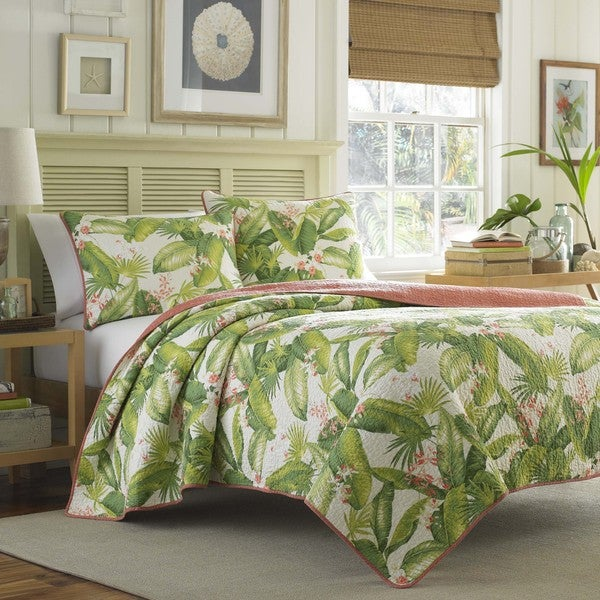 Tommy Bahama Aregada Dock Ecru Cotton 3-piece Quilt Set - On Sale ... : overstock quilts king - Adamdwight.com