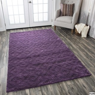Technique Red/ Purple Wool Accent Rug (9' x 12')