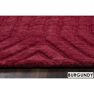 Technique Blue/ Grey/ Beige/ Burgundy/ Brown Wool Accent Rug (9' x 12')