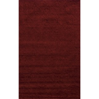 Technique Red Wool Accent Rug (9' x 12')