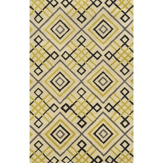 Bradberry Downs Ivory/ Gold/ Black/ Charcoal Wool Accent Rug (9' x 12')