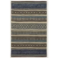 Bradberry Downs Grey/ Blue/ Beige/ Taupe/ Brown Wool Accent Rug - 9' x 12'