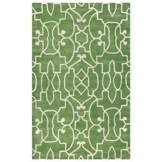 Bradberry Downs Green/ White Wool Accent Rug (9' x 12') - 9' x 12'