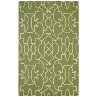 Bradberry Downs Green/ White Wool Accent Rug (9' x 12')