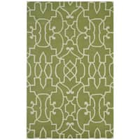 Bradberry Downs Green/ White Wool Accent Rug - 9' x 12'