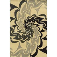 Bradberry Downs Black/ Beige/ Grey Wool Accent Rug - 9' x 12'