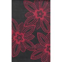Bradberry Downs Grey/ Fuchsia Wool Accent Rug - 9' x 12'