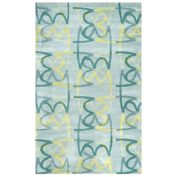 Shop Bradberry Downs Blue/ Aqua/ Teal/ Light Green/ Yellow