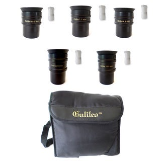 Set of 5 Orthoscopic 4 Element Eyepiece Set + Shoulder Case