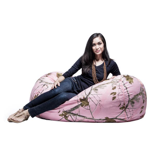 Outstanding Shop Jaxx Realtree 4 Ft Camouflage Bean Bag Lounger Free Dailytribune Chair Design For Home Dailytribuneorg