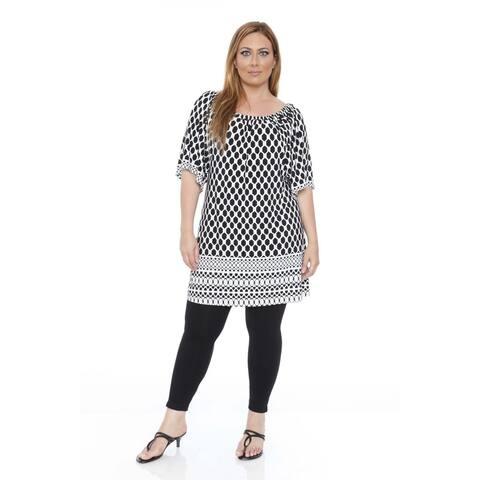 White Mark Women's Plus Size 'Thyra' Beehive Dress Tunic