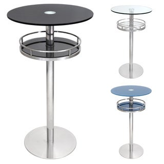 LumiSource Cora 43.75-inch Height Bar Glass Table