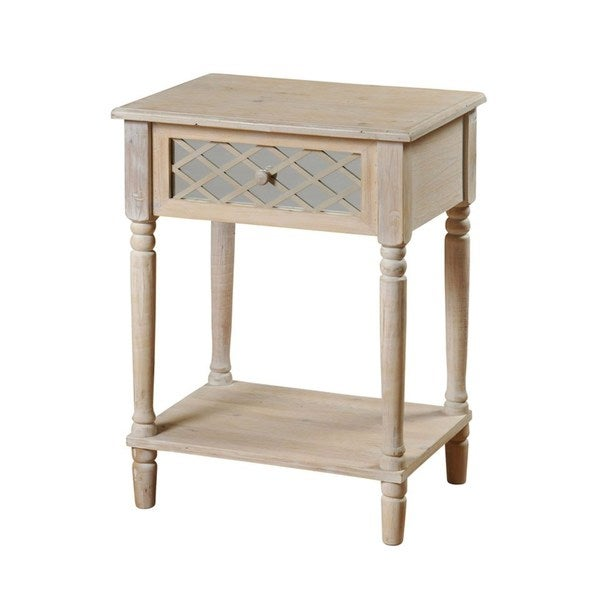 Distressed White Side Table - Free Shipping Today ...