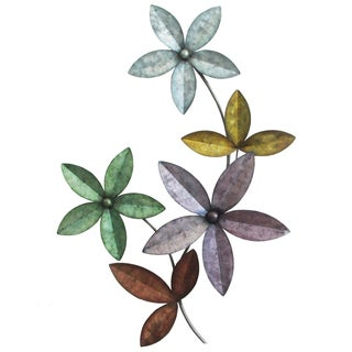Multi-color Flower Metal Wall art