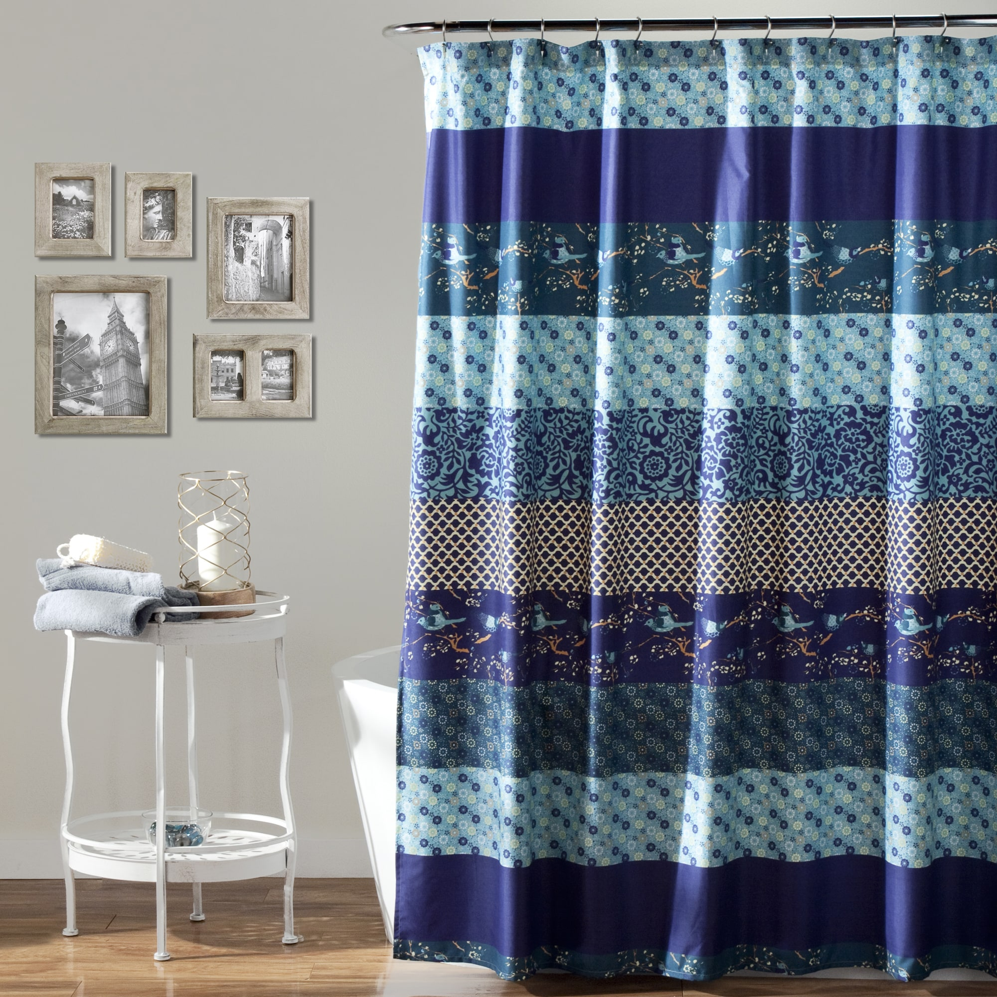 Lush Decor Royal Empire Peacock Shower Curtain