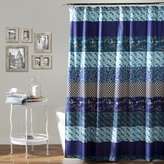 Lush Decor Royal Empire Peacock Shower Curtain - Thumbnail 0