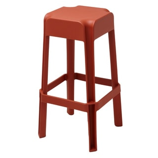 Nolan Dark Orange Stackable Stool (Set of 2)
