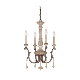 Capital Lighting Chateau Collection 4-light French Oak Chandelier