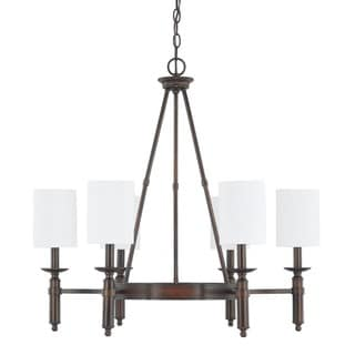 Capital Lighting Covington Collection 6-light Burnished Bronze Chandelier
