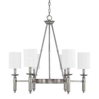 Capital Lighting Covington Collection 6-light Antique Nickel Chandelier