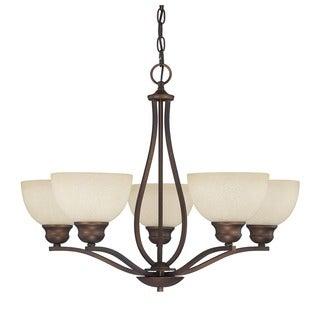 Capital Lighting Stanton Collection 5-light Burnished Bronze Chandelier
