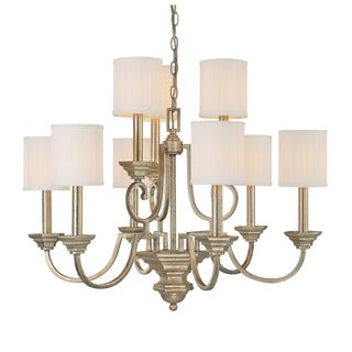 Capital Lighting Fifth Avenue Collection 9-light Winter Gold Chandelier