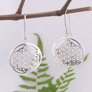 Flower of Life Sacred Geometry Earrings (Indonesia)