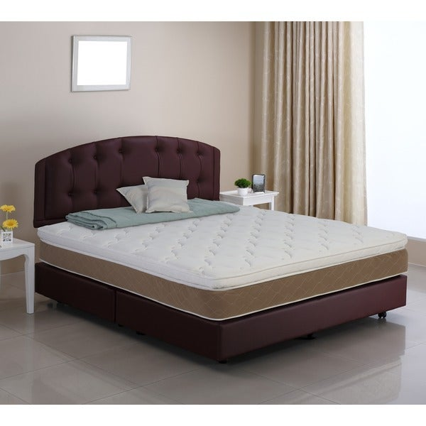 wolf serene siesta pillowtop fullsize wrapped coil innerspring mattress - Innerspring Mattress