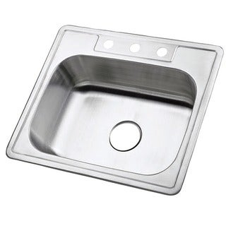 Single Bowl Self-rimming 25-inch Stainless Steel Kitchen Sink