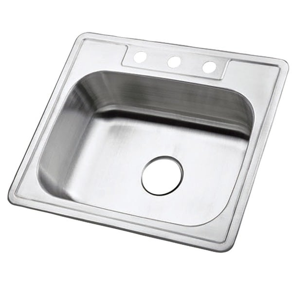 Single Bowl Self-rimming 25-inch Stainless Steel Kitchen Sink - Free ...