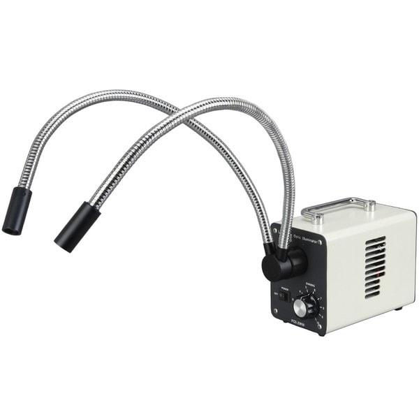 20W LED Fiber Optic Dual Gooseneck Lights Microscope Illuminator