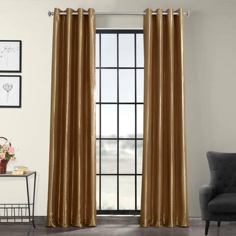 Exclusive Fabrics Blackout Faux Silk Taffeta 120-inch Curtain Panel