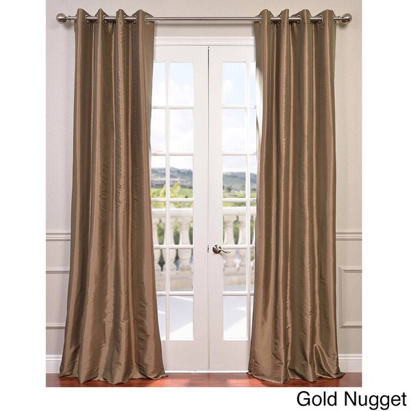 Exclusive Fabrics Grommet Blackout Faux Silk Taffeta 120 Inch Curtain Panel Free Shipping