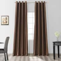 Exclusive Fabrics Faux Silk Taffeta 120-inch Grommet Blackout Curtain Panel