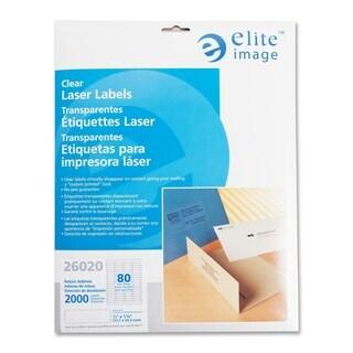 Elite Image Clear Address Laser Label (2000 per Pack)
